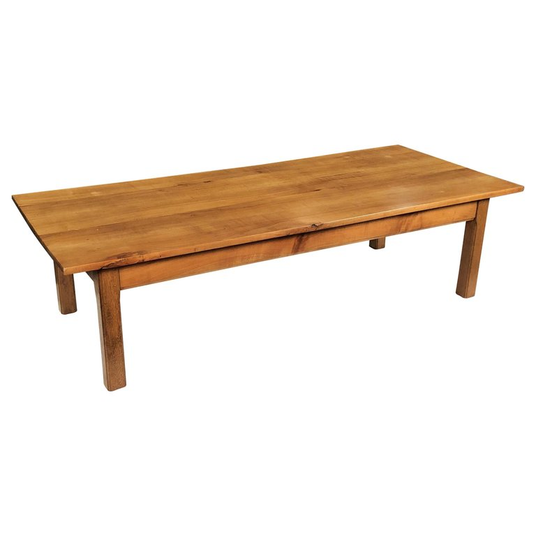 Large French Coffee Table: Large French Rectangular Low Or Coffee Table Of Cherry