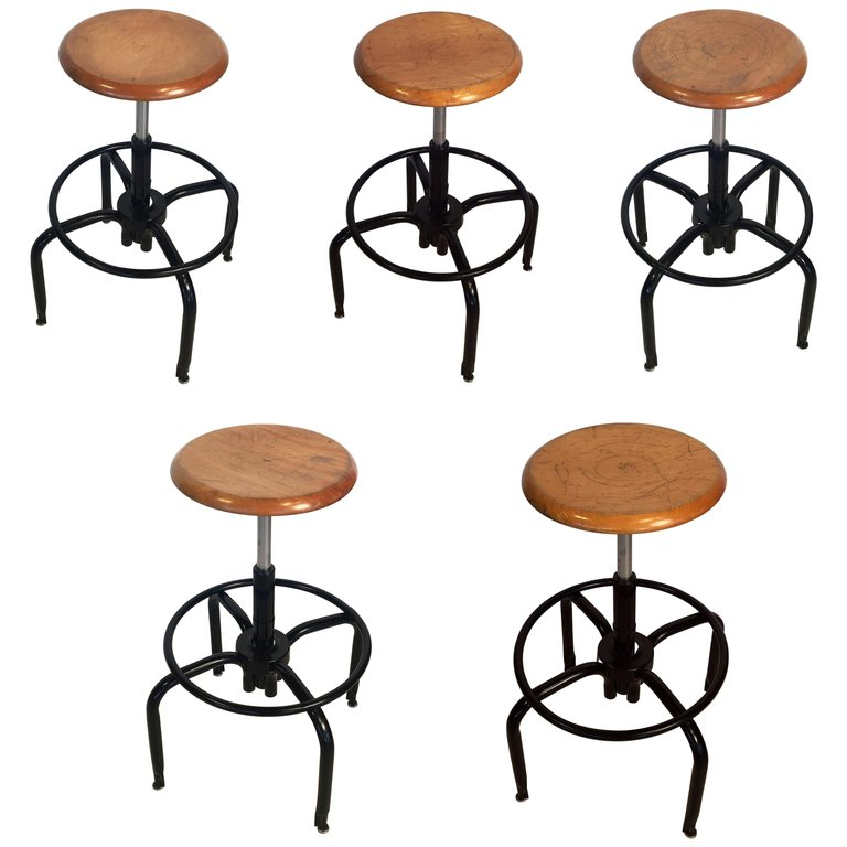 Superb Black Metal And Chrome Bar Stools With Round Wood Seats Gamerscity Chair Design For Home Gamerscityorg