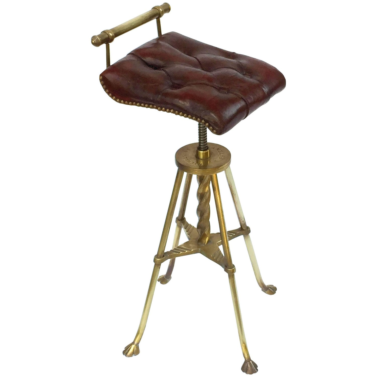 Awesome English Harpists Stool Or Chair Of Brass With Original Lamtechconsult Wood Chair Design Ideas Lamtechconsultcom